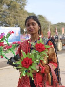 flower shop market pilgrims Kumbh mela 2019 India Allahabad Prayagraj Ardh hindu religious Festival event rivers photographer jose jeuland photography