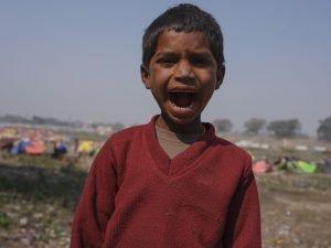 little boy pilgrims Kumbh mela 2019 India Allahabad Prayagraj Ardh hindu religious Festival event rivers photographer jose jeuland photography