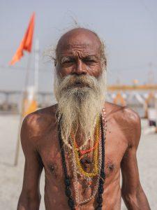 old man portrait pilgrims Kumbh mela 2019 India Allahabad Prayagraj Ardh hindu religious Festival event rivers photographer jose jeuland photography