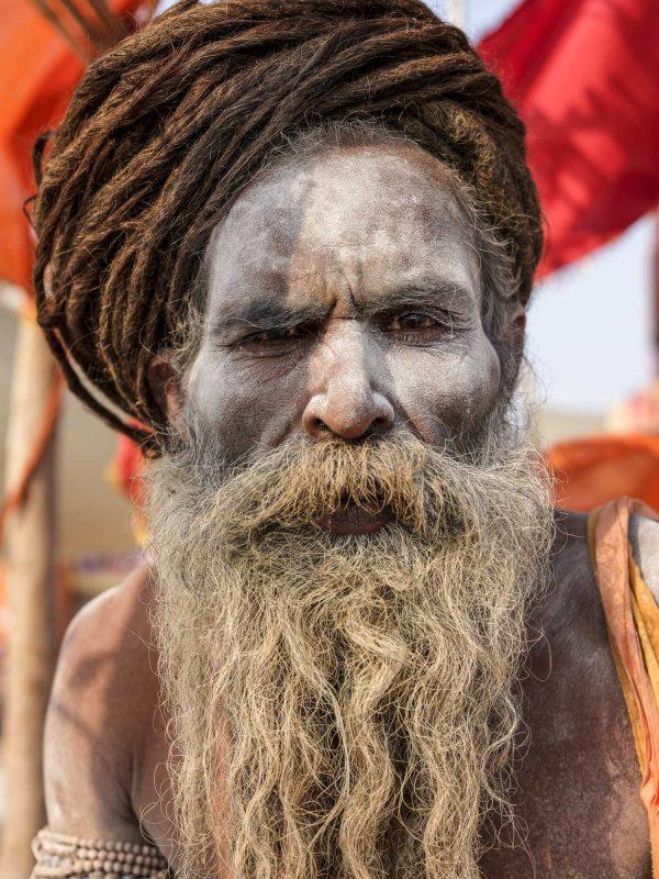 baba portrait photo pilgrims gfx 50R fujifilm Kumbh mela 2019 India Allahabad Prayagraj Ardh hindu religious Festival event rivers photographer jose jeuland photography bob marley