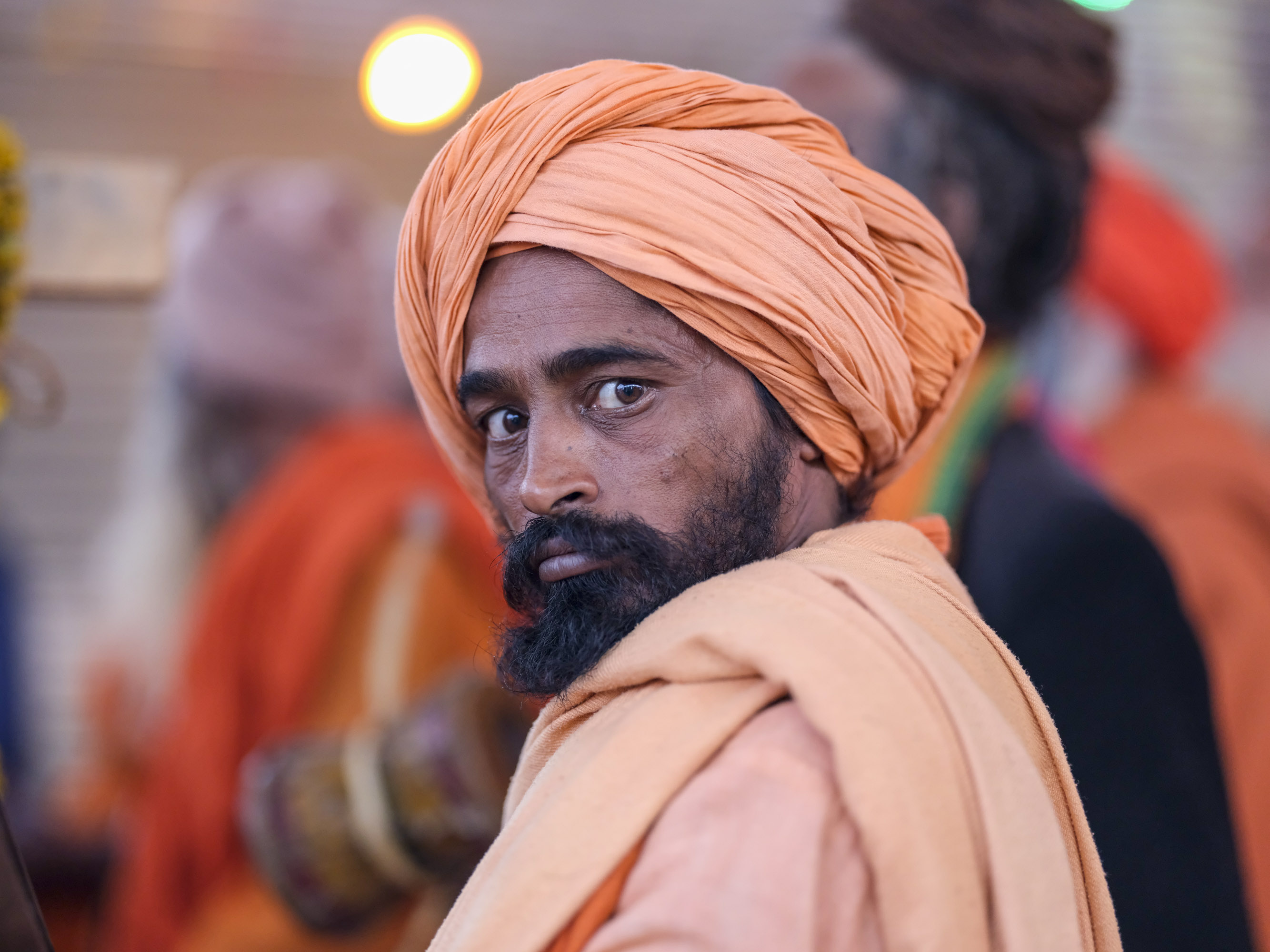 strong portrait pilgrims Kumbh mela 2019 India Allahabad Prayagraj Ardh hindu religious Festival event rivers photographer jose jeuland photography