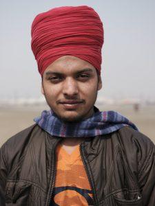 portrait man pilgrims Kumbh mela 2019 India Allahabad Prayagraj Ardh hindu religious Festival event rivers photographer jose jeuland photography