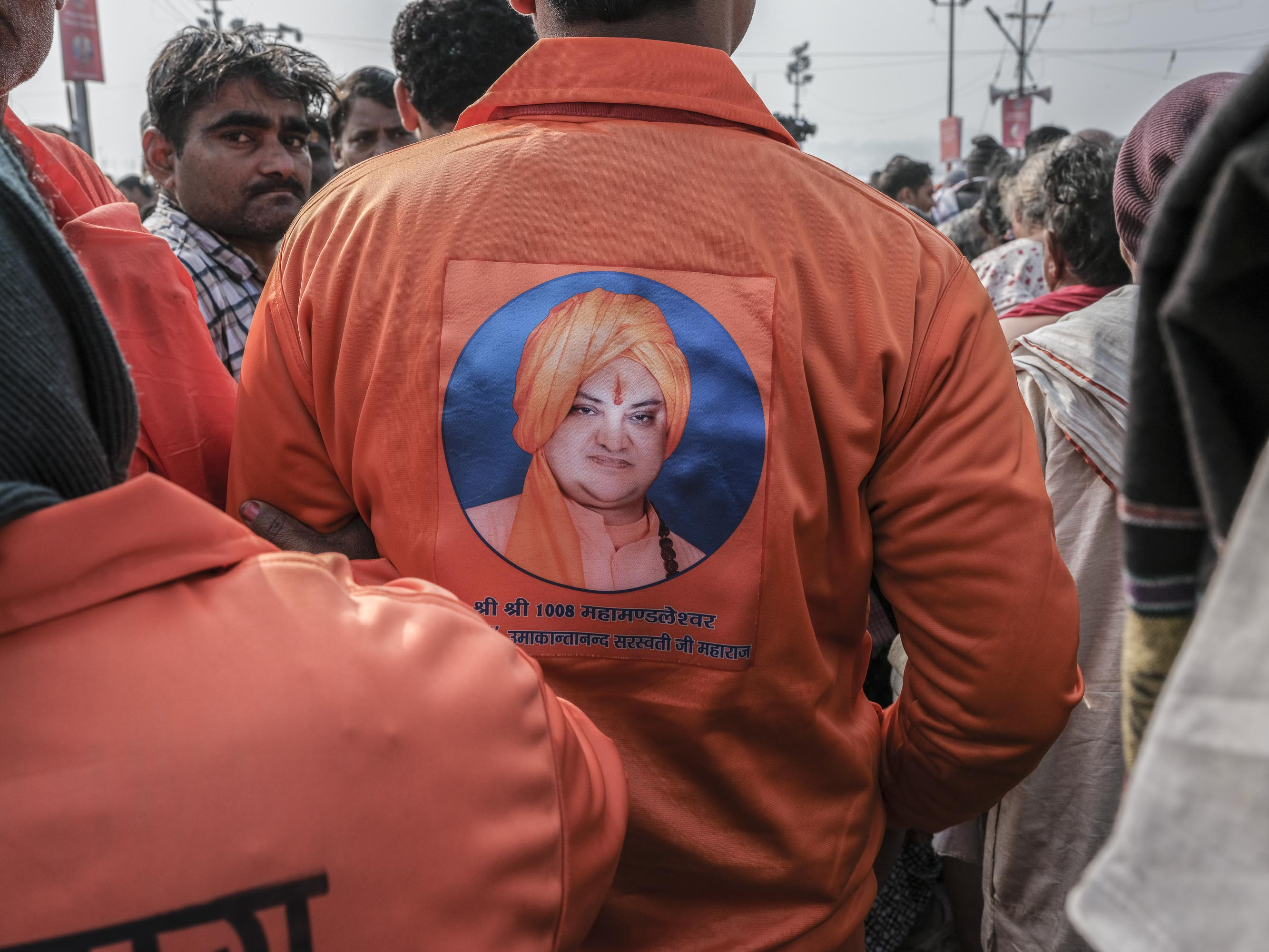 baba supporters crowd 4 February pilgrims Kumbh mela 2019 India Allahabad Prayagraj Ardh hindu religious Festival event rivers photographer jose jeuland photography