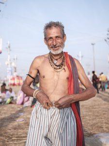 after bath man pilgrims Kumbh mela 2019 India Allahabad Prayagraj Ardh hindu religious Festival event rivers photographer jose jeuland photography