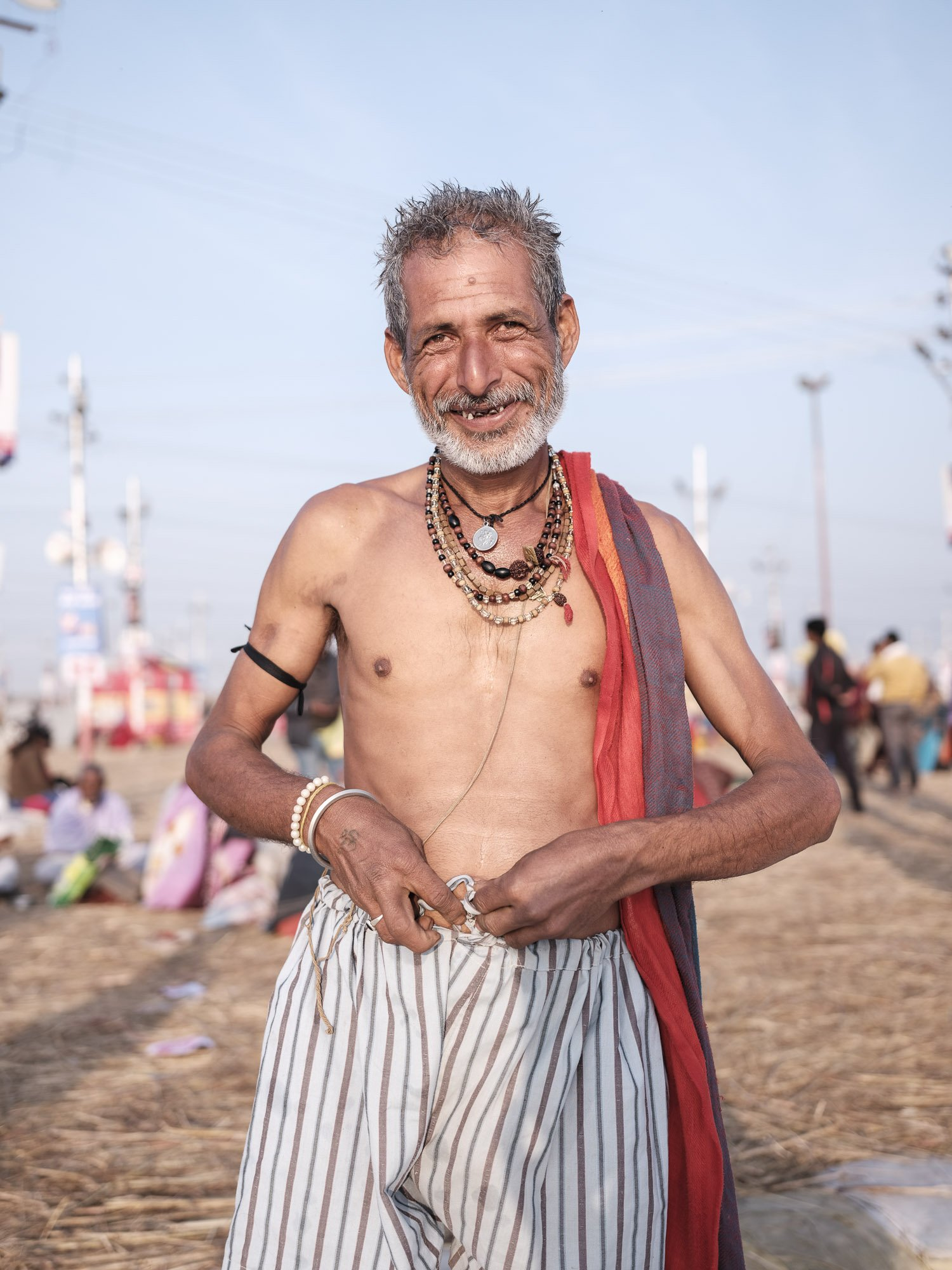 after bath man pilgrims Kumbh mela 2019 India Allahabad Prayagraj Ardh hindu religious Festival event rivers photographer jose jeuland photography