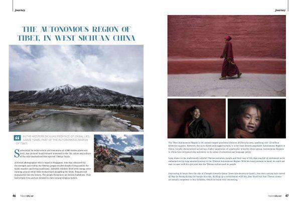 mountains landscape real wall Tropical Life Magazine autonomous region tibet sichuan china jose jeuland photographer travel story