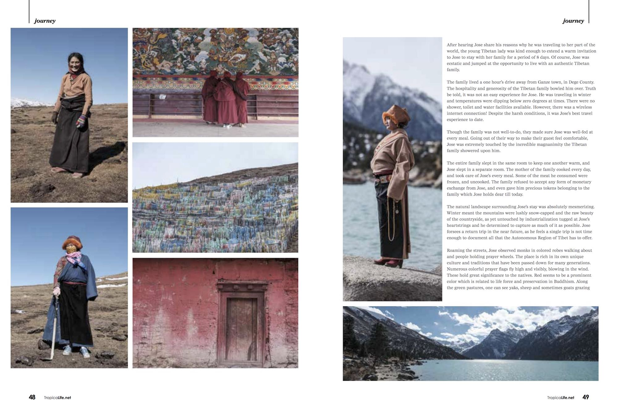 portrait people Tibetan mountains TTropical Life Magazine autonomous region tibet sichuan china jose jeuland photographer travel story
