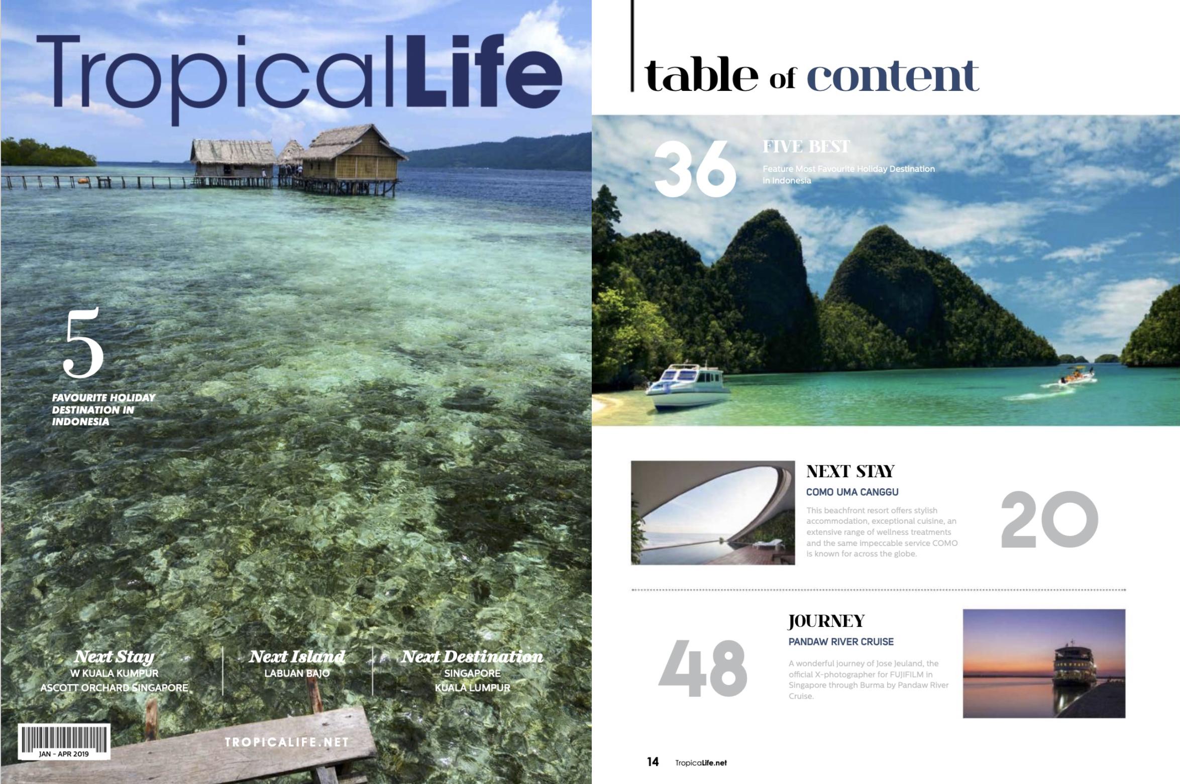Tropicallife magazine Jan/Apr 2019 Pandaw boat cruise Myanmar Jose Jeuland photographer travel