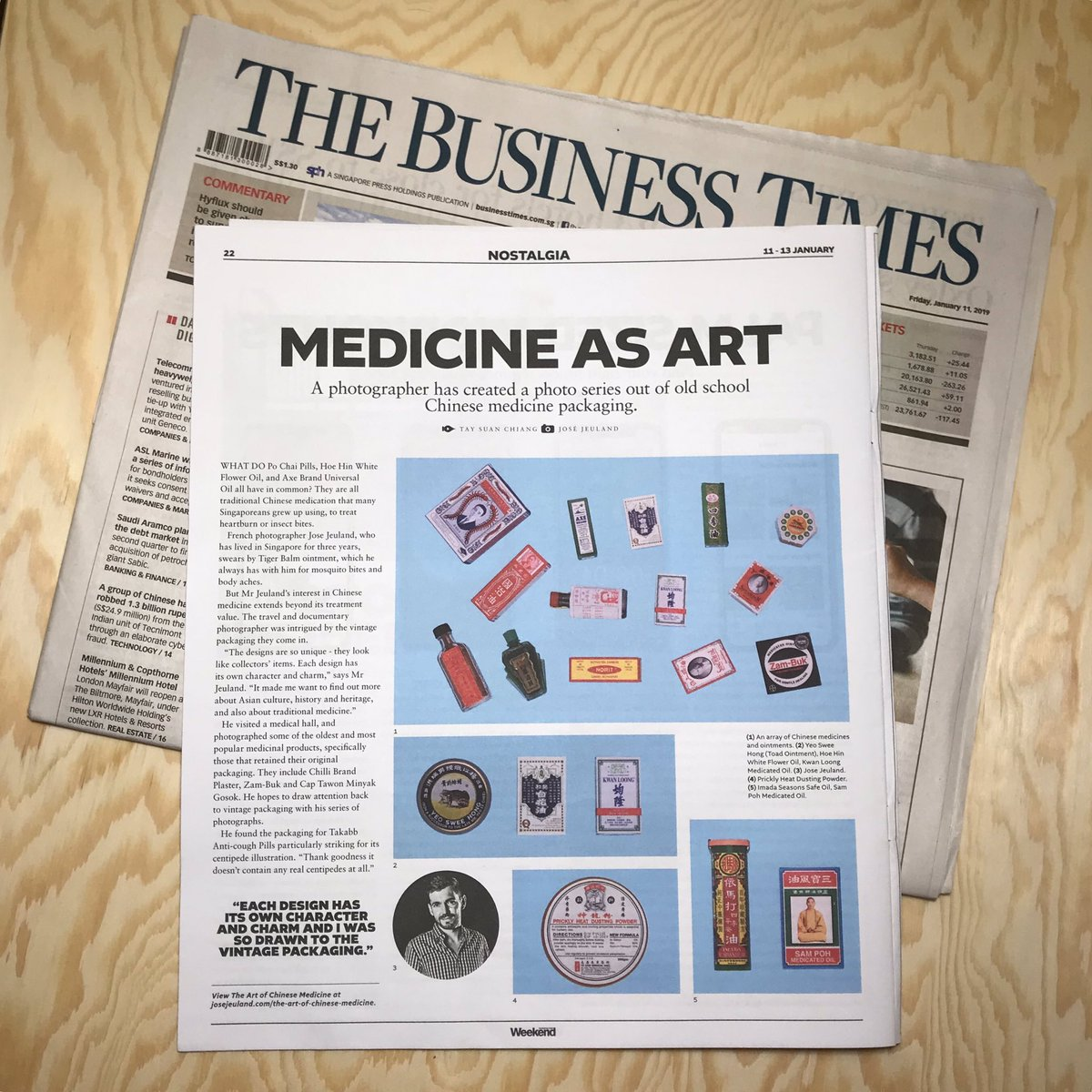 Art of Chinese medicine - The Business Times weekend Singapore Jose Jeuland Photographer newspaper
