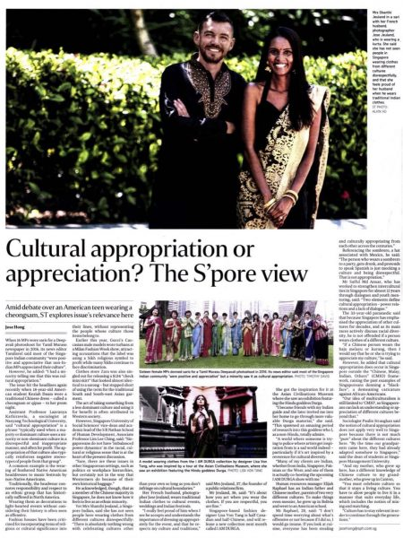 The Sunday Times Singapore - Jose and Shanthi Jeuland singapore straight time
