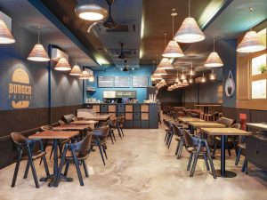 Interior Photography by Jose Jeuland Burger Frites Overview of the restaurant