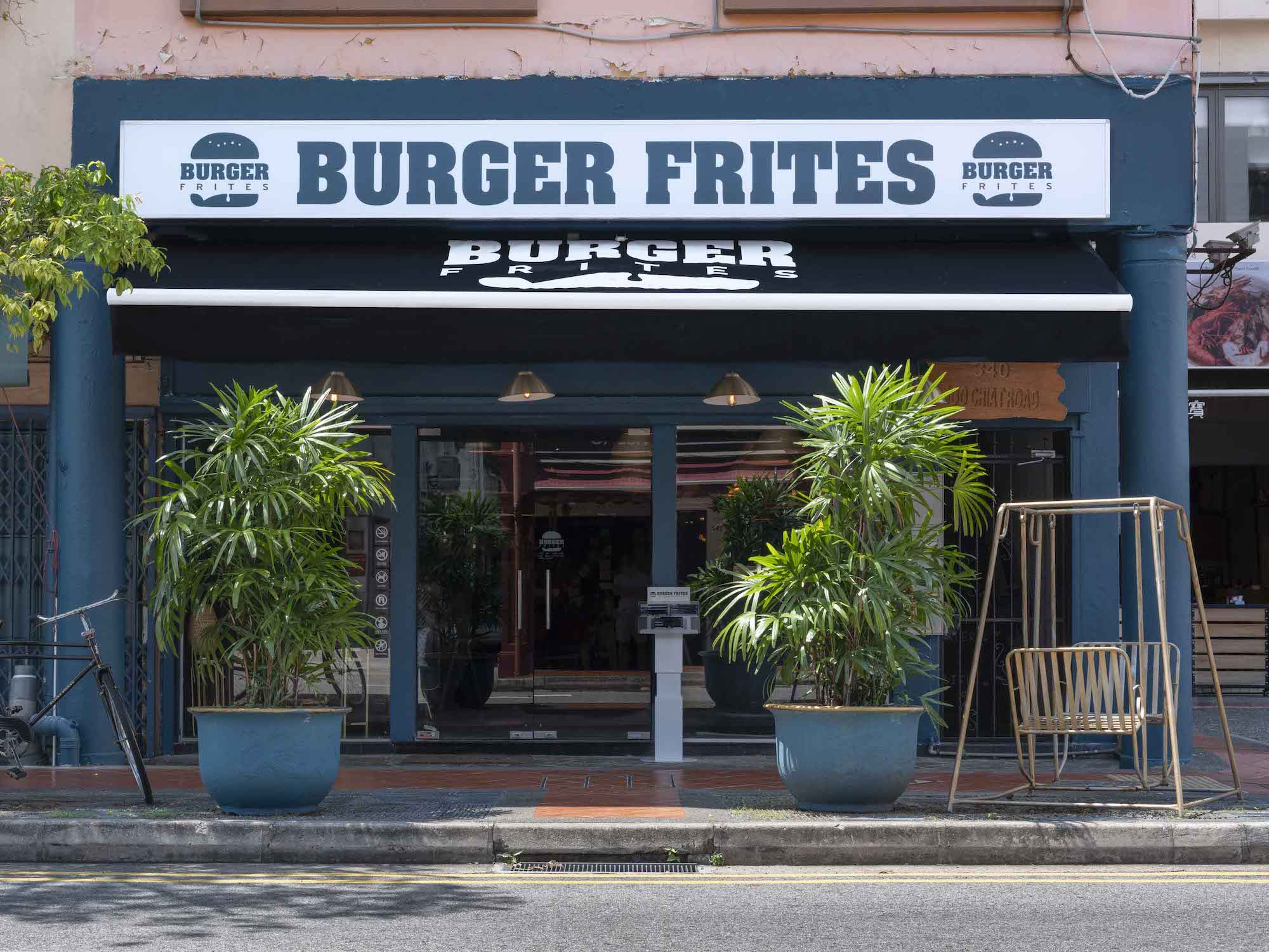 Interior Photography Burger Frites Singapore