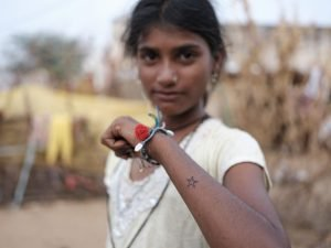 tattoo girl Gypsy Kalbelia tribe nomad Rajasthan India Documentary Photography Jose Jeuland Photographer print fine art