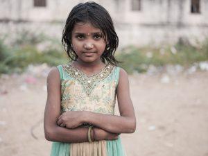 girl green gold portrait Gypsy Kalbelia tribe nomad Rajasthan India Documentary Photography Jose Jeuland Photographer print fine art