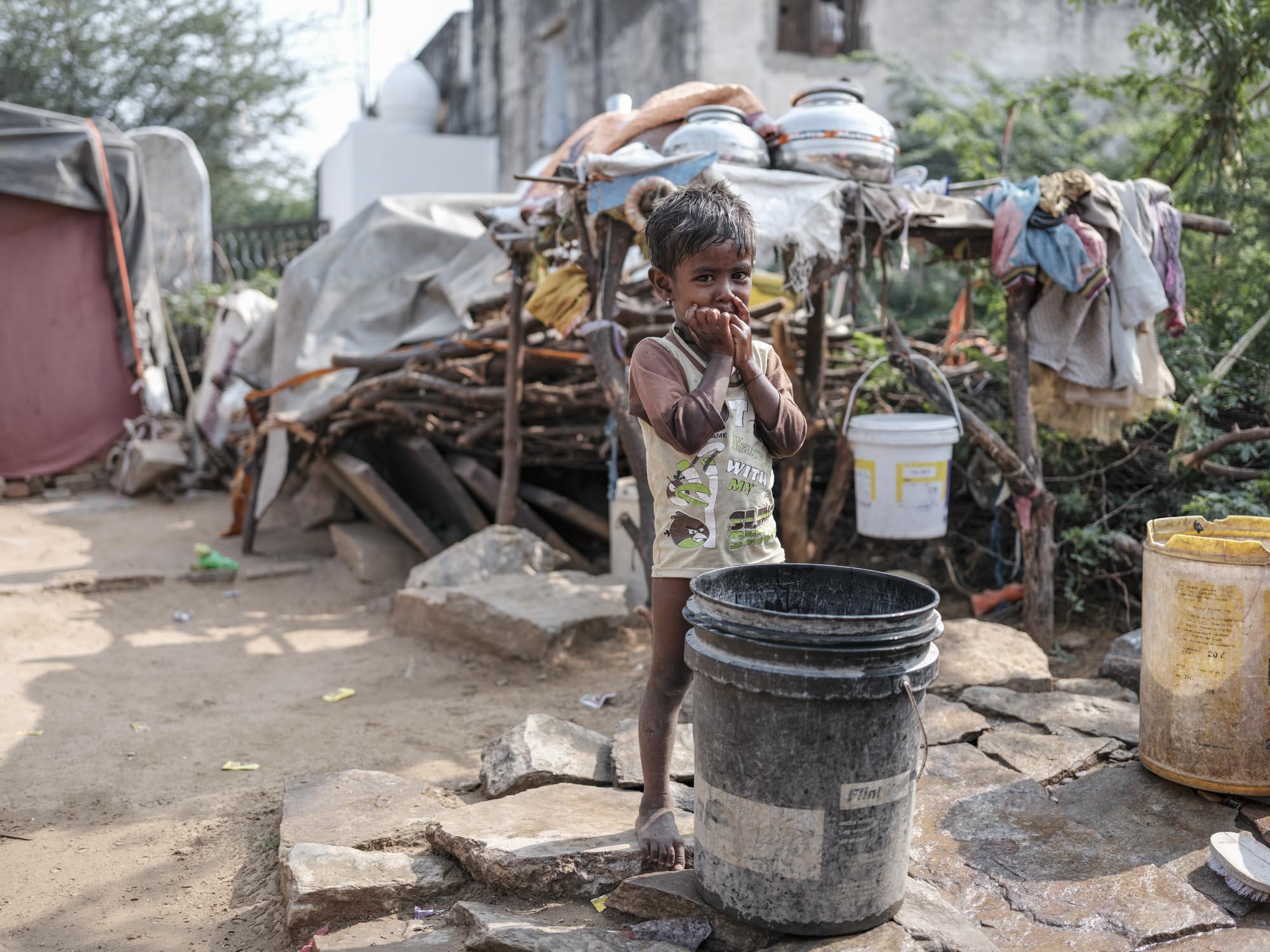 little boy Gypsy Kalbelia tribe nomad Rajasthan India Documentary Photography Jose Jeuland Photographer print fine art