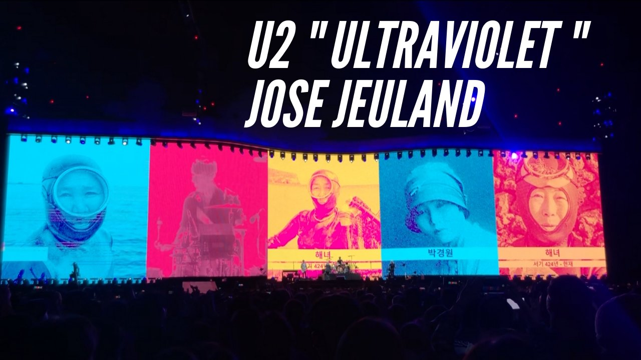 Collaboration U2 & photographer Jose Jeuland on Ultraviolet song with portraits of the Haenyeo.