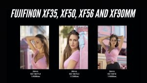 FUJIFILM lenses XF35 xf50 xf56 xf90 mm – Video portrait photoshoot singapore x-t3 photographer