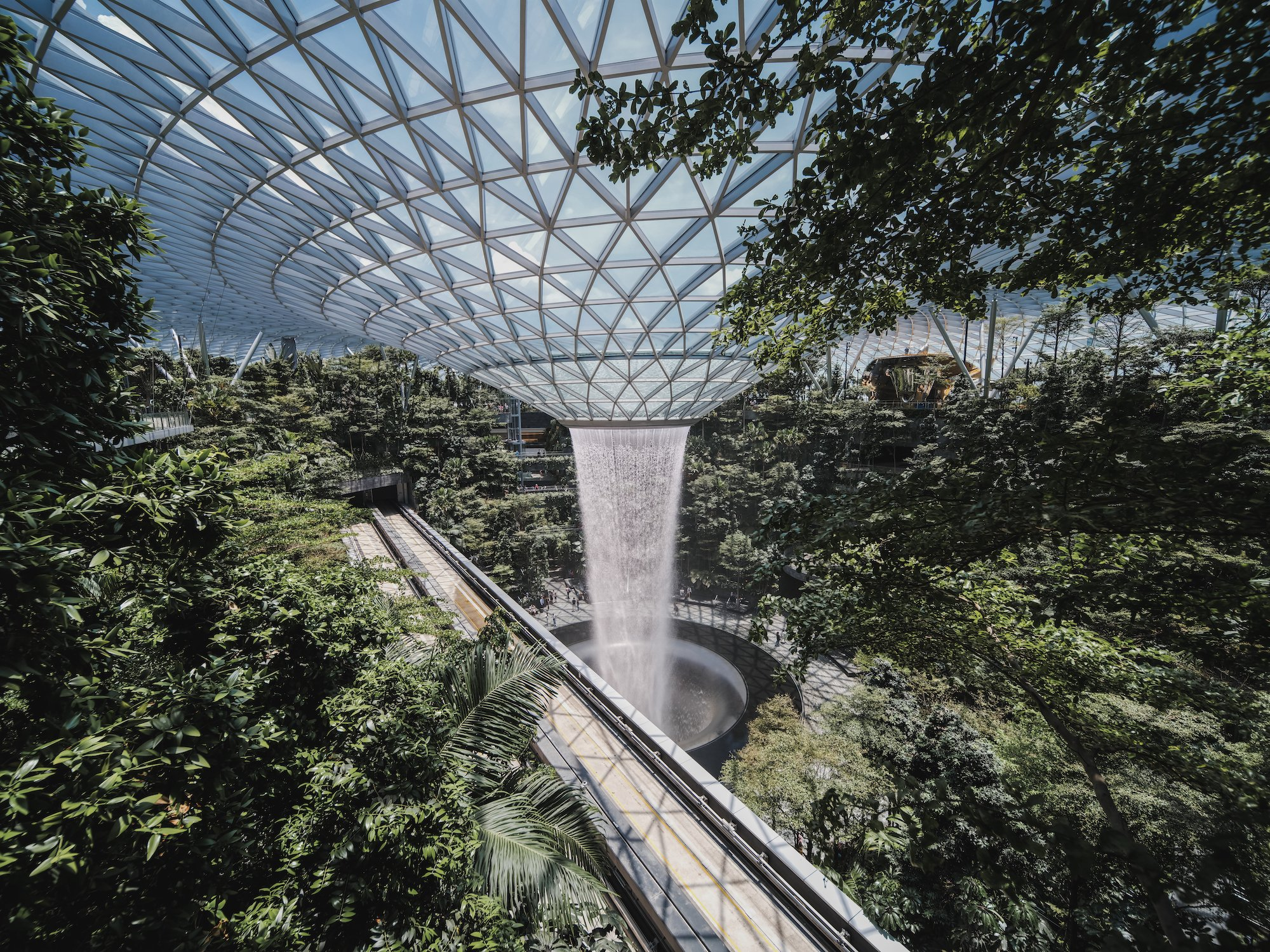 Laowa 17mm f:4 Ultra Wide GFX Zero D lens Fujifilm GFX 100 Tallest Indoor Waterfall at Jewel Changi Airport 4