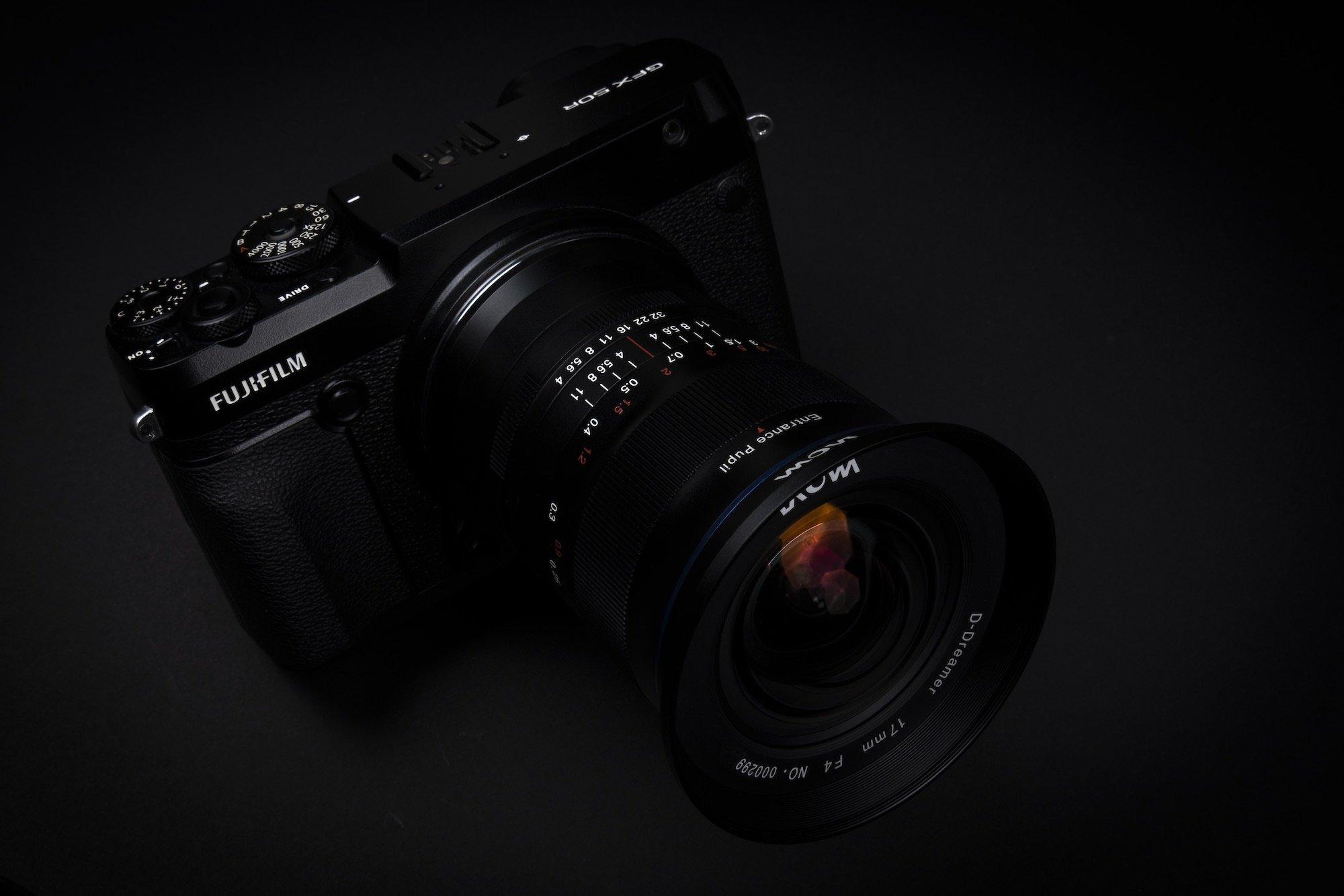 Laowa 17mm f:4 Ultra Wide GFX Zero D lens moyen format Fujifilm GFX 50R 6