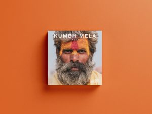 Kumbh mela India allahabad Photography book cover mock up