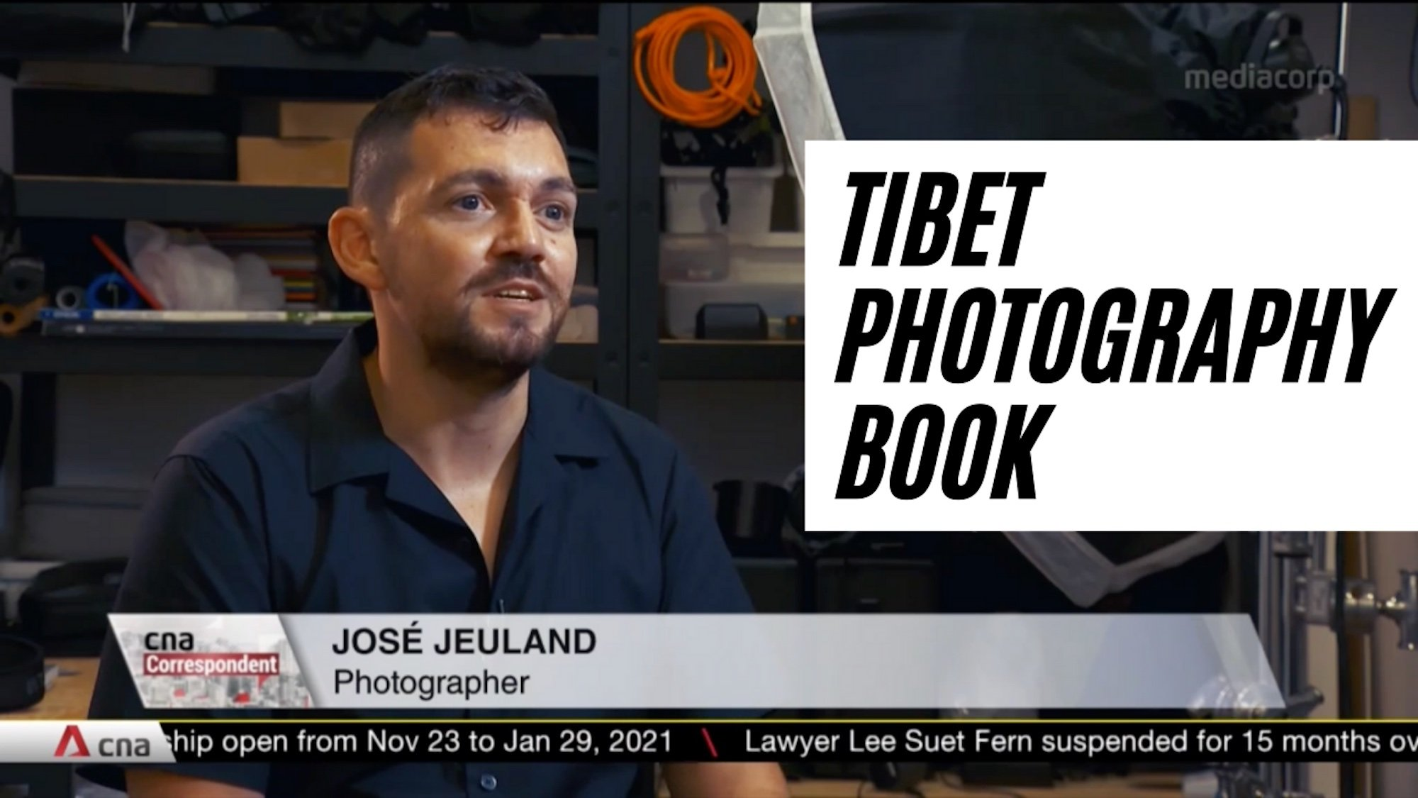 "TV CNA Correspondent – Featured Jose Jeuland's photography book "" TIBET """
