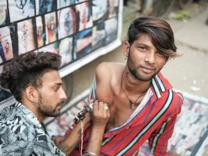 street tattoo session Pushkar Travel Documentary Photography India Jose Jeuland-9