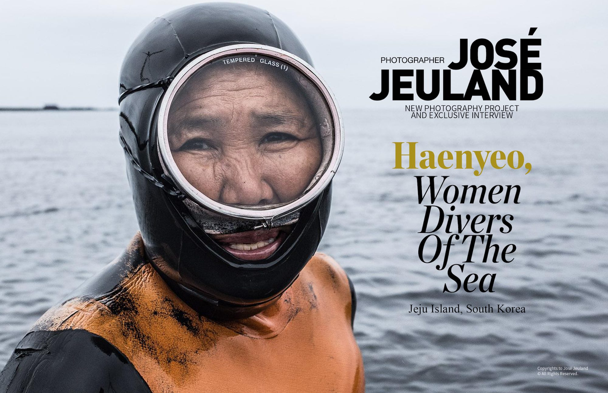 Lens Magazine Issue 64 Jan 2020 Jose Jeuland Photography documentary contributor interview Fujifilm x-photographer singapore Haenyeo Jeju Island Women Divers 1-2