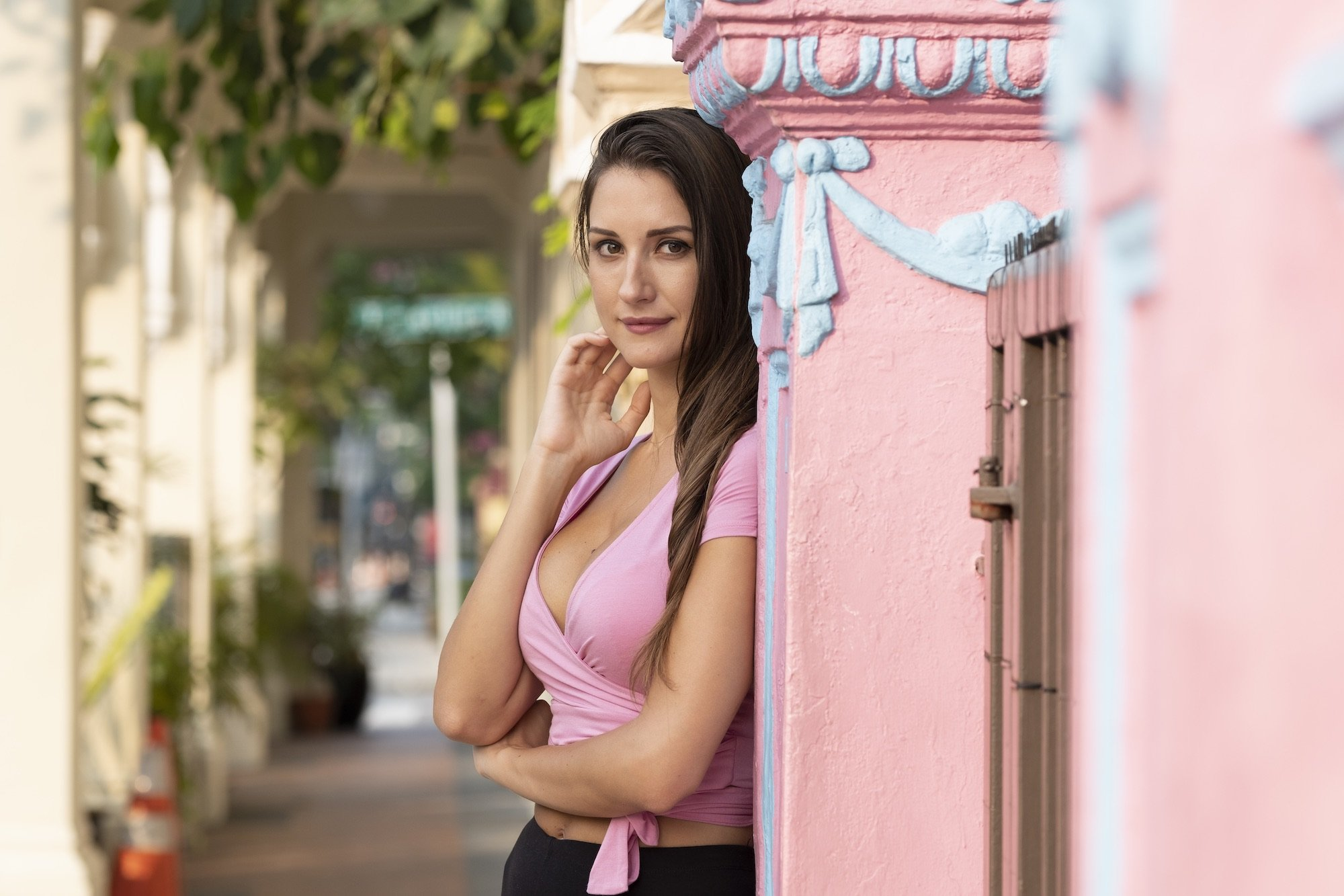 Fashion Photography Pink Model Outdoors Shophouse Jose Jeuland 8