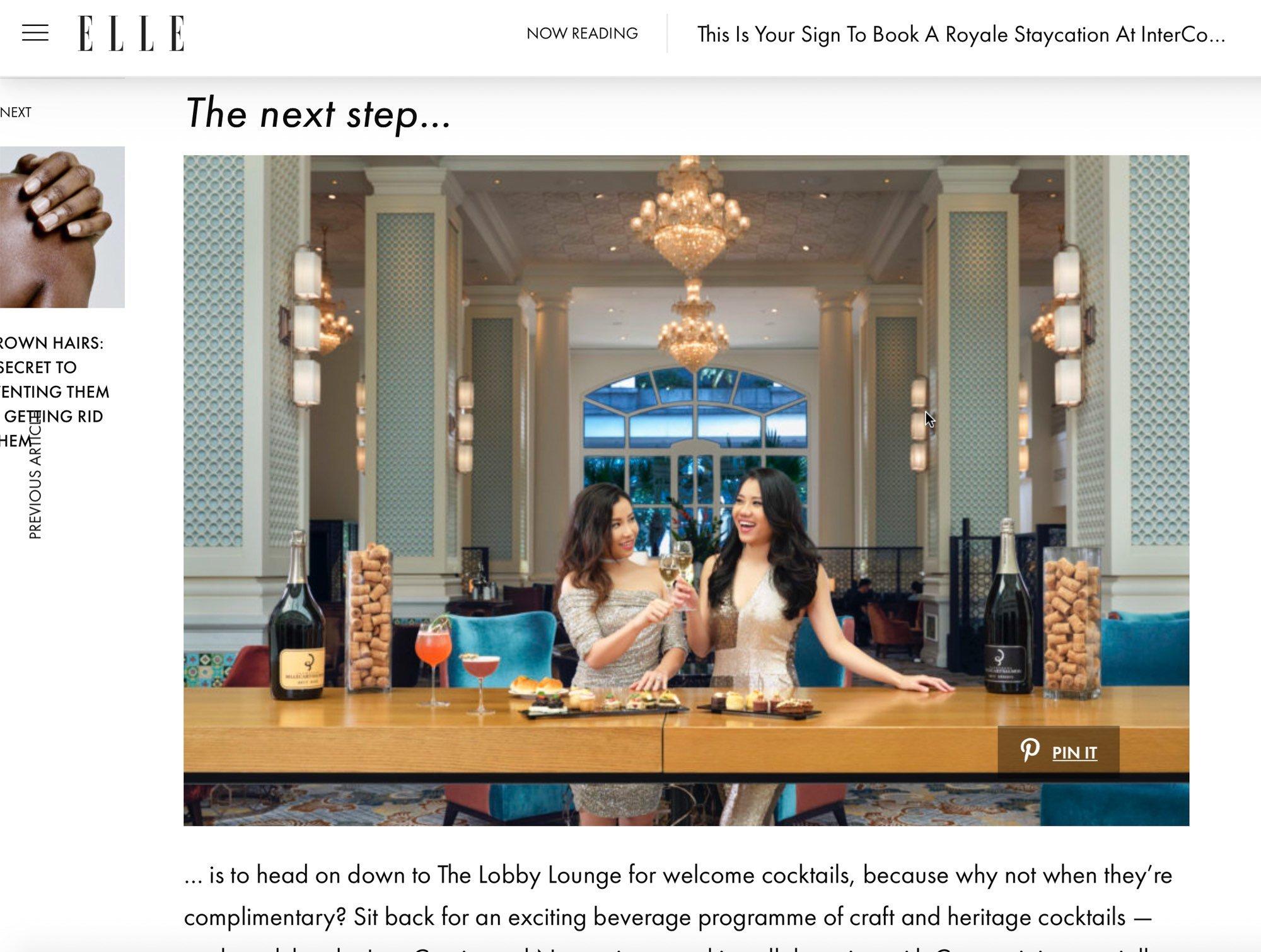InterContinental Hotel Singapore Elle Media Feature Hospitality Photography Jose Jeuland-2