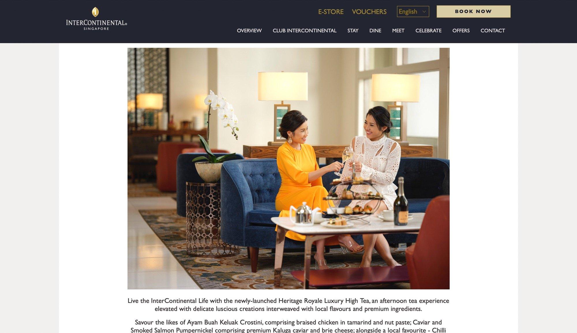 InterContinental Hotel Singapore Media Feature Hospitality Photography Jose Jeuland-14