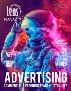 Lens Magazine April 2021 commercial advertising fashion photographer beauty model Singapore