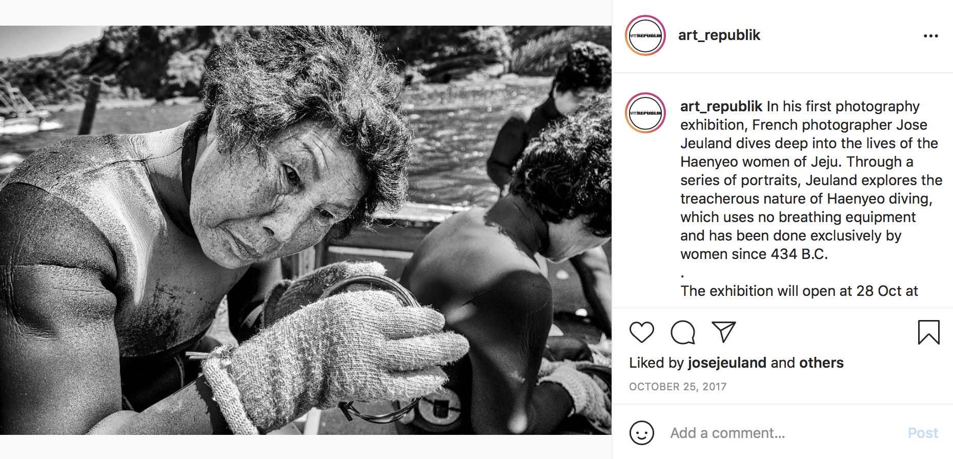 Art Republik Instagram Haenyeo Women Divers Jose Jeuland 3