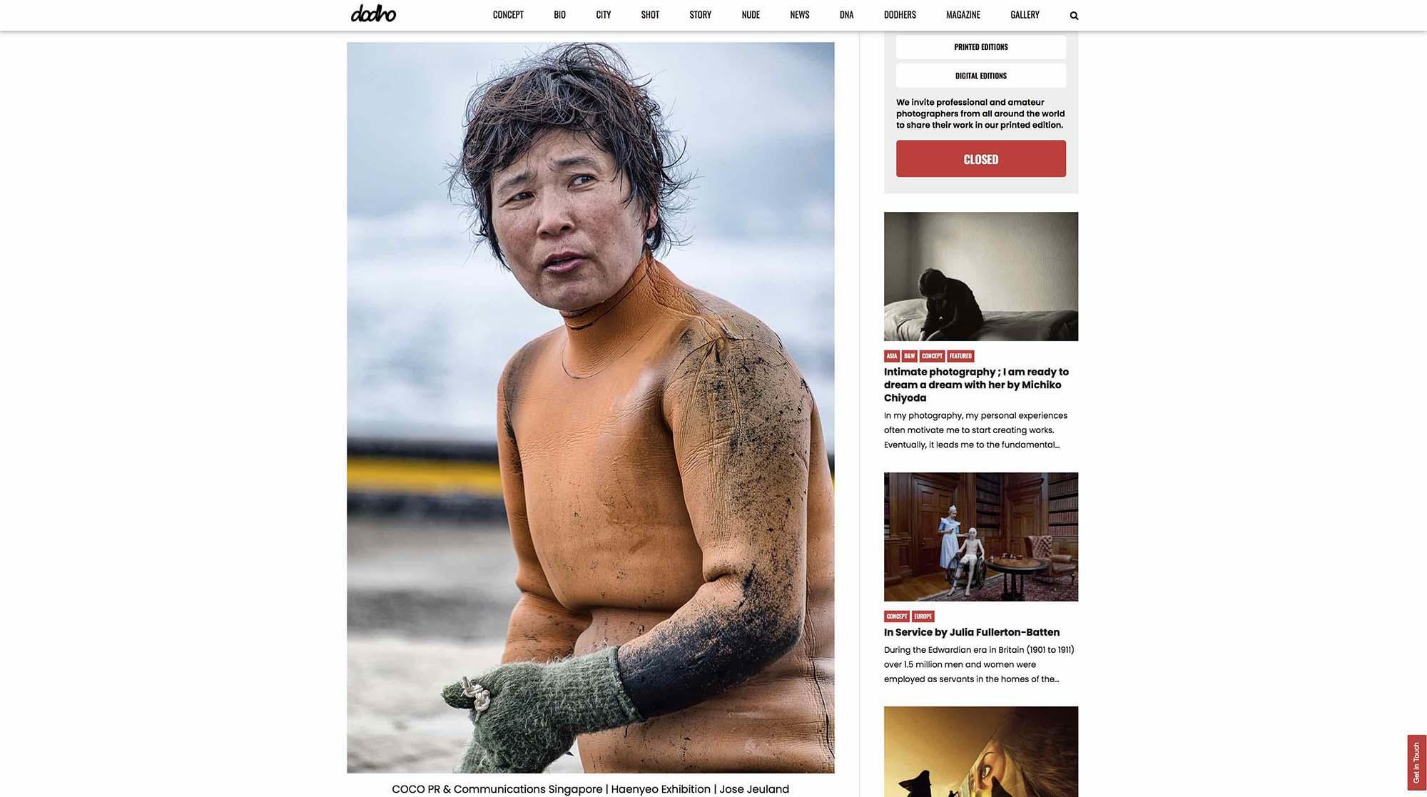 Dodho Photography Magazine Haenyeo Jeju Island Jose Jeuland 3