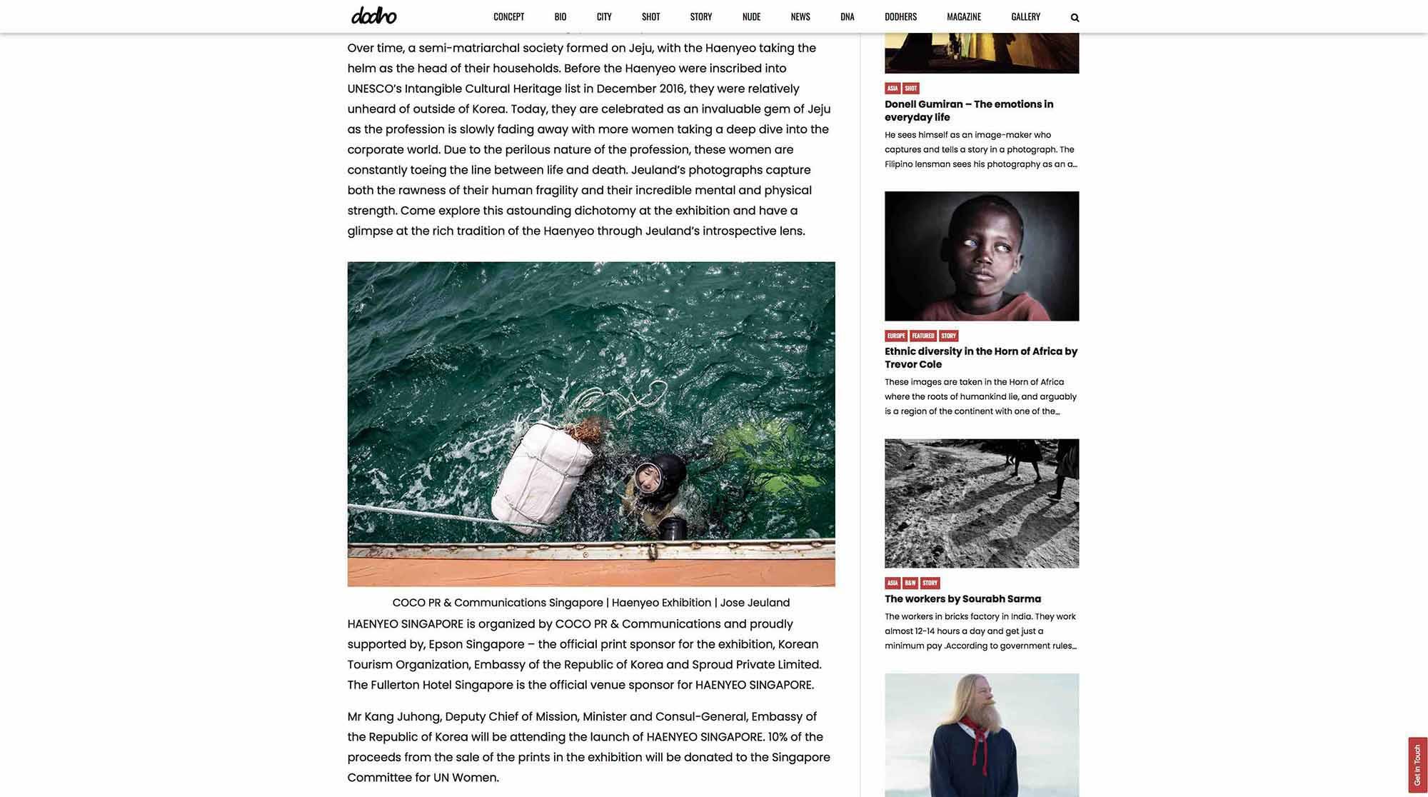 Dodho Photography Magazine Haenyeo Jeju Island Jose Jeuland 4