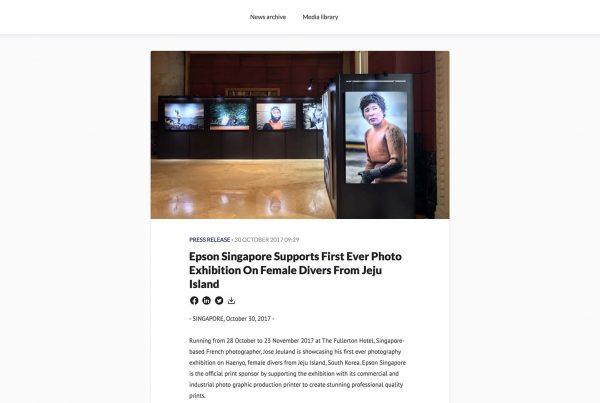 Epson Singapore Photography Exhibition Haenyeo Jeju Island Jose Jeuland 1