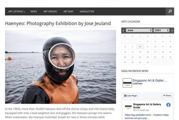 Singapore Art and Gallery Guide Haenyeo Women Divers Jose Jeuland 1