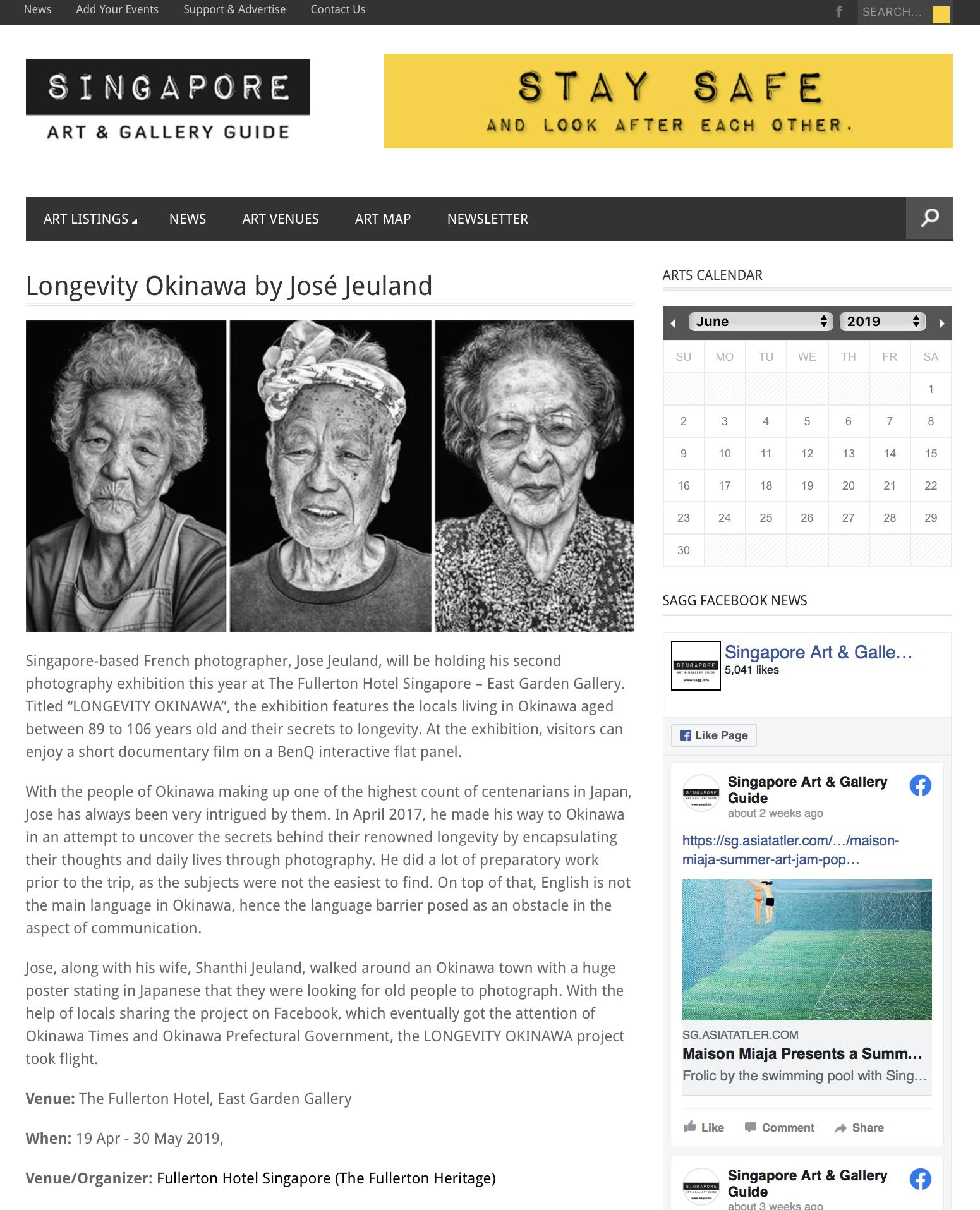 Singapore Art and Gallery Guide Longevity Okinawa Jose Jeuland 1