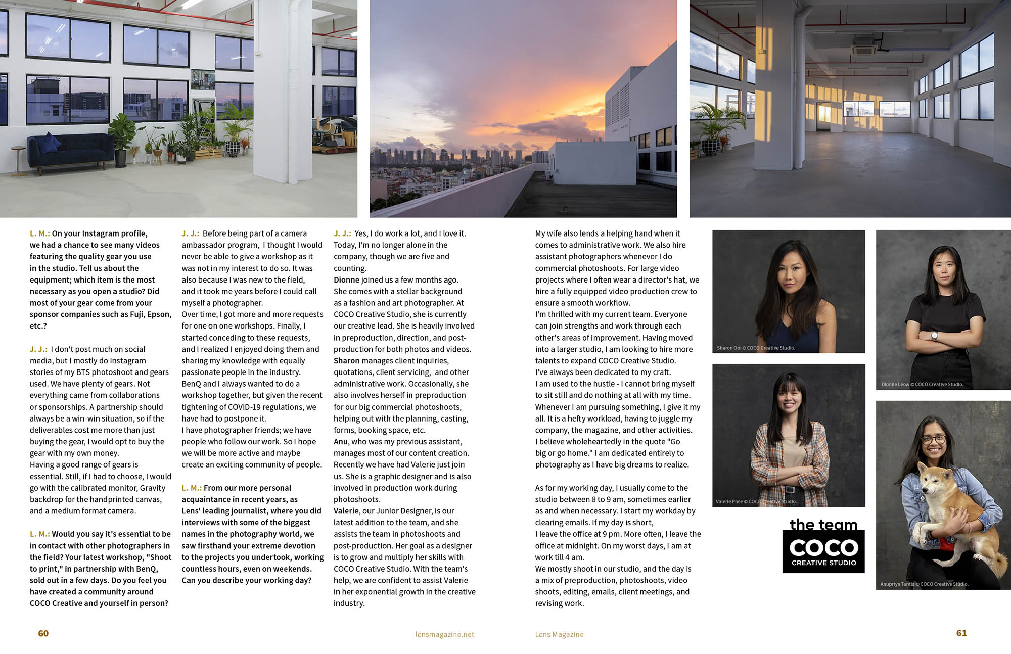 Lens Magazine Issue 83 COCO Creative Studio Photography Videography Services Singapore Jose Jeuland 5
